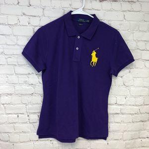 Polo Ralph Lauren Big Logo Shirt Size M Purple